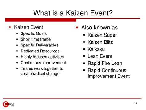 rapid improvement event template kaizen events blitz lean projects