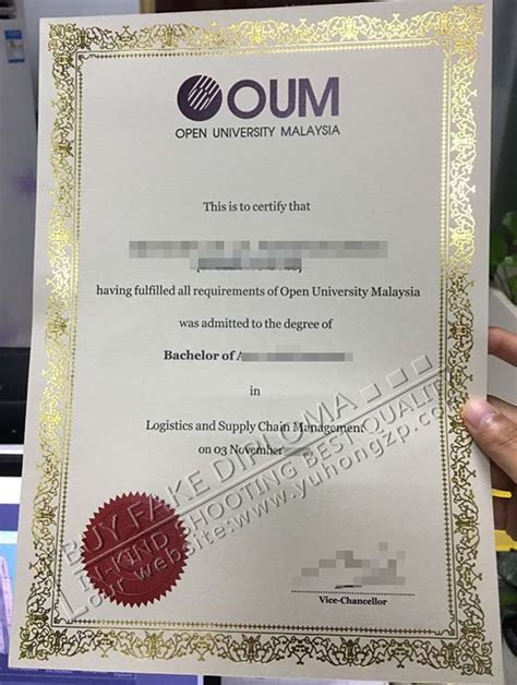 Oum Mba by Open Malaysia Diploma Template Buy Oum Degree