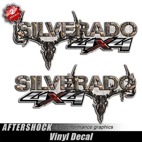 hunting truck decals 4x4 silverado camo skull truck decals aftershock decals