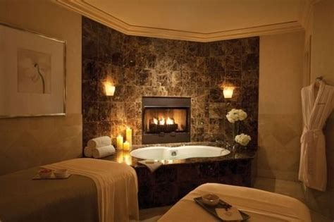 Spa And Fireplace by Luxury Bathroom With Fireplace House