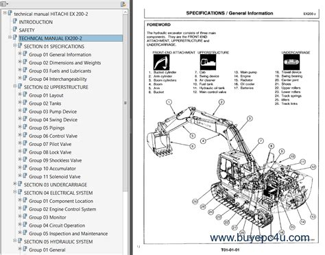 one manual hitachi ex200 2 excavator pdf service manuals