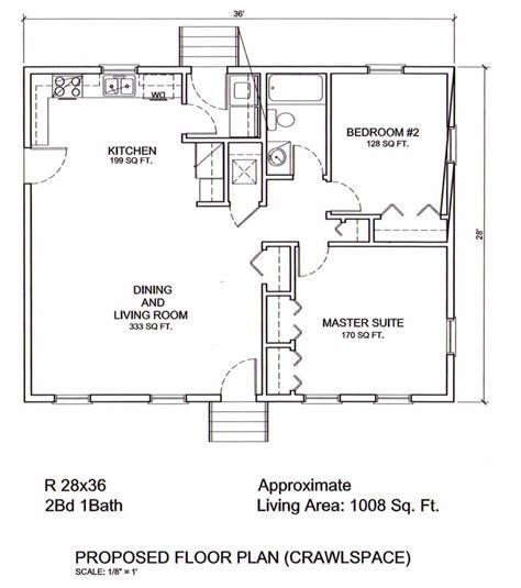2 bedroom ranch floor plans