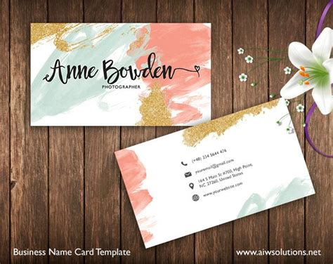 Name Card Template Business Card Templates Creative Market Name Card Template