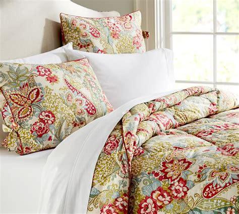 comforter and sham leslie floral reversible comforter sham pottery barn