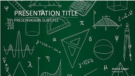 math powerpoint template 12 free math powerpoint template