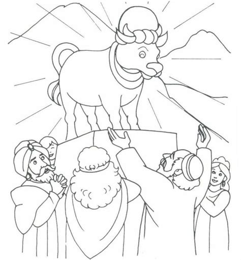 the golden calf exodus 32 coloring bible ot exodus