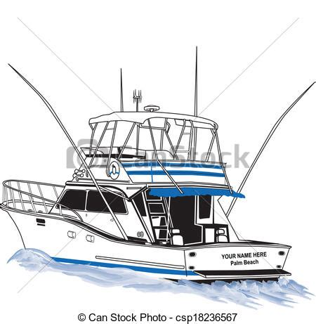 how to draw a power boat sport fishing boat drawings