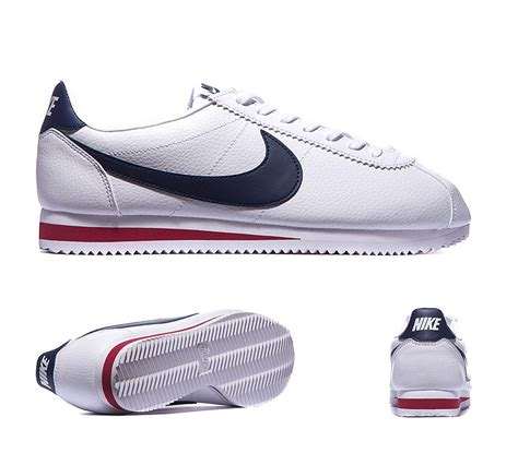 Nike Cortez Textille Navy 21b nike cortez leather trainer white navy