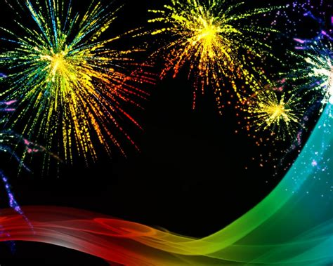 rainbow fireworks celebration colorful abstract image  high resolution hd wallpaper