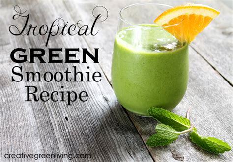 Tropical Smoothie Detox Island Green Ingredients by Tropical Greens Smoothie Recipe Creative Green Living