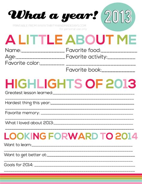 printable new year s resolutions for kids