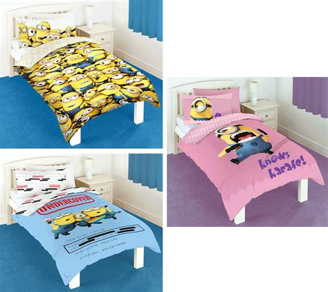 despicable me bedding despicable me single duvet quilt cover reversible bedding