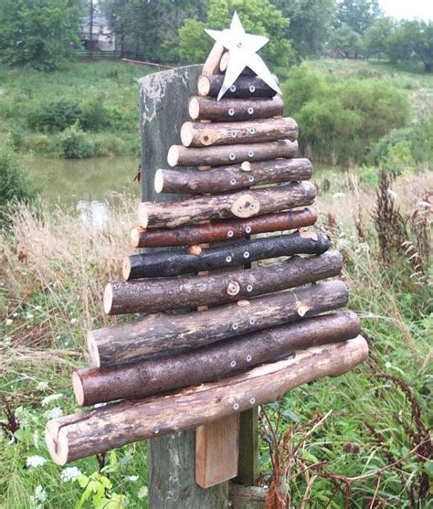 rustic barn wood christmas tree outdoor handmade from