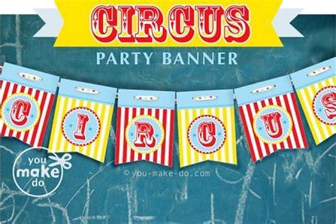 printable circus banner circus party banner printables