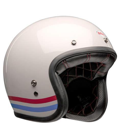 Garage Size by Bell Helmet Bell Custom 500 Stripes Pearl White