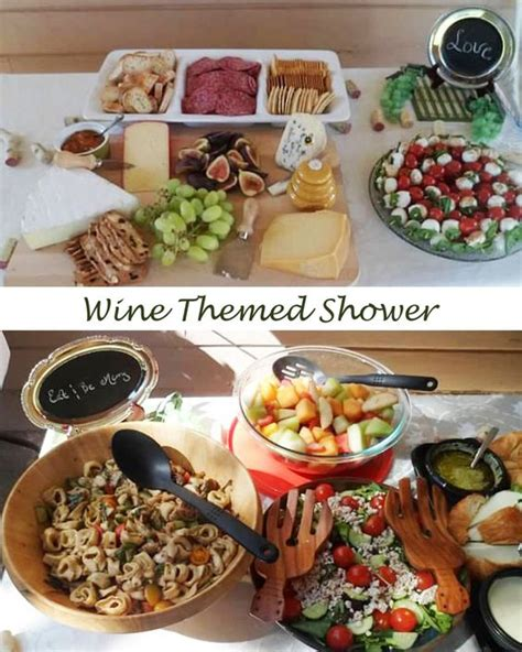 food spread for wine themed bridal shower wine themed - Wine Themed Bridal Shower Food