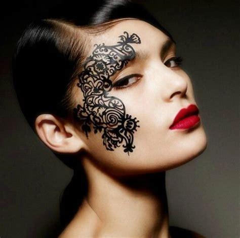 hot tattoo makeup sexy face lace eye shadow sticker makeup artistic eye face