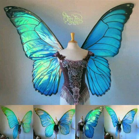 Handmade Butterfly Costume - blue butterfly wings handmade holidays and gift