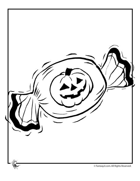 halloween candy coloring pages coloring home