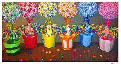6 yo gabba gabba inspired lollipop trees custom made