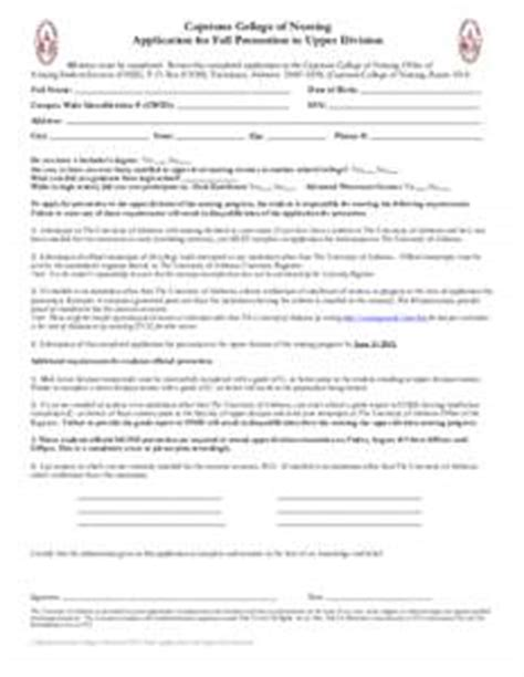 capstone college of nursing application for fall promotion