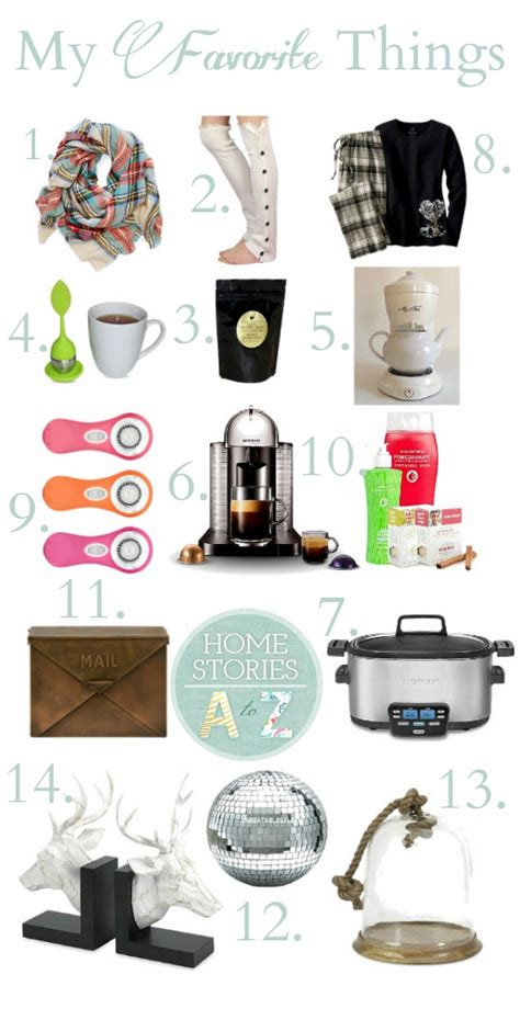 a few of my favorite things gift ideas home stories a to z