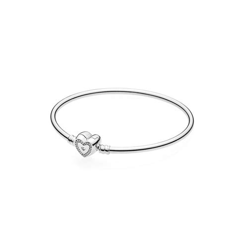 Wishful Heart Moments Silver Bangle ? The Art of Pandora