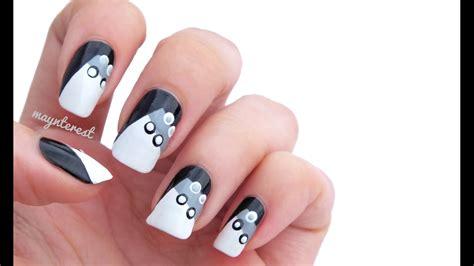 imagenes uñas decoradas en blanco y negro dise 209 o de u 209 as con puntos dot nail art youtube