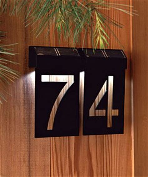 solar house numbers eye catching house numbers sun led and design