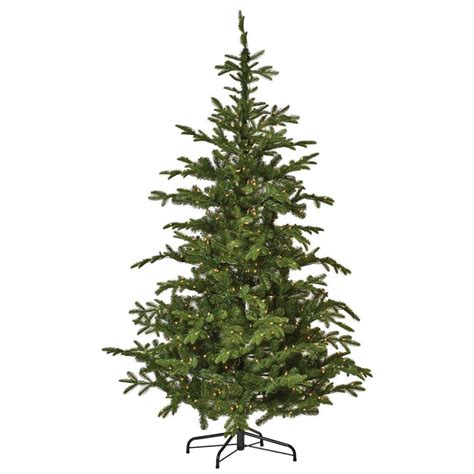 martha stewart faux christmas tree martha stewart living 7 5 ft indoor pre lit spruce hinged artificial tree