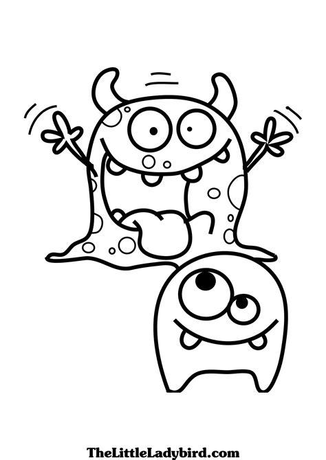 coloring pages of monsters coloring pages cute monsters www pixshark com images