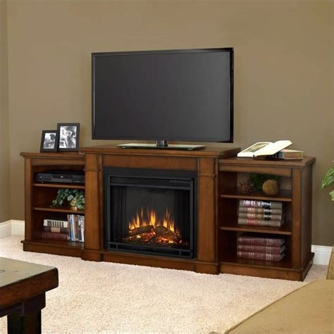 Tv Stands With Electric Fireplace Real Hawthorne Electric Fireplace Tv Stand In Burnished Oak 2222e Bo