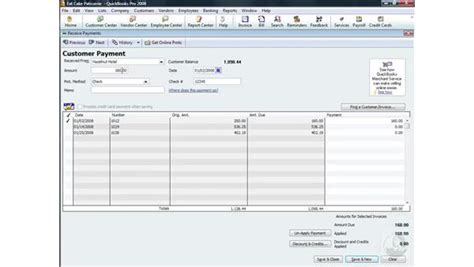 quickbooks tutorial receiving payments receiving payments
