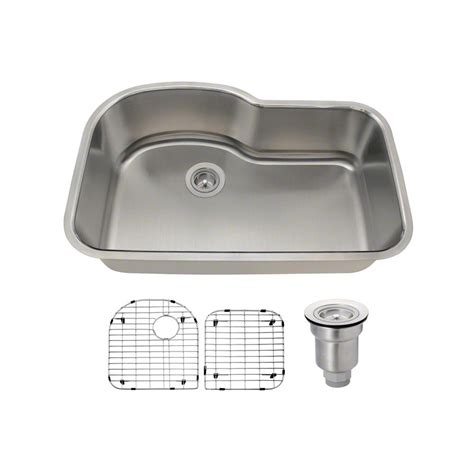 Knop Panci Stainless Mt 31 mr direct all in one undermount stainless steel 31 in single bowl kitchen sink 346 16 ens the