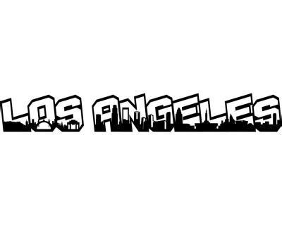 Aufkleber Buchstaben Gro by Los Angeles Schriftzug Skyline Aufkleber 25 Farben 8 Hennef