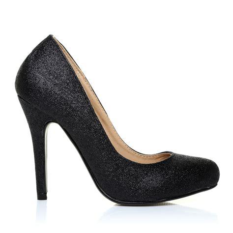 black glitter high heel shoes black glitter stilleto high heel classic court