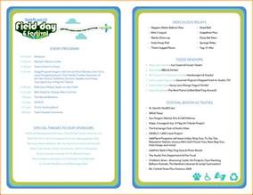 event programs templates event program template great printable calendars