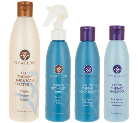 ovation cell therapy ovation hair care ovation cell therapy 4 piece hair care set page 1 qvc com