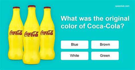 color trivia what was the original color of trivia questions