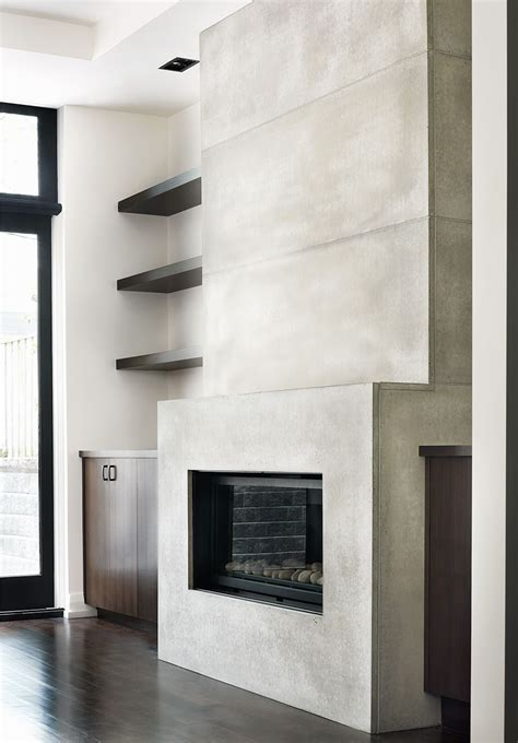 york mill residence ft contemporary concrete tile fireplace surroundthe large concrete tiles