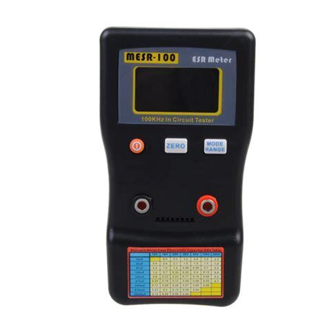 mesr 100 autoranging esr low ohm circuit capacitor meter tester alex nld
