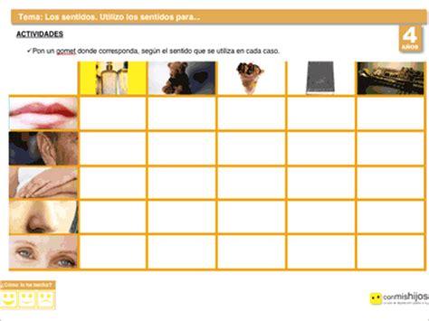 identificar imagenes sensoriales para qu 233 se usan los sentidos ejercicios del cuerpo humano