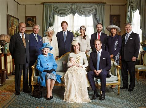 prince george royal family photos from christening video