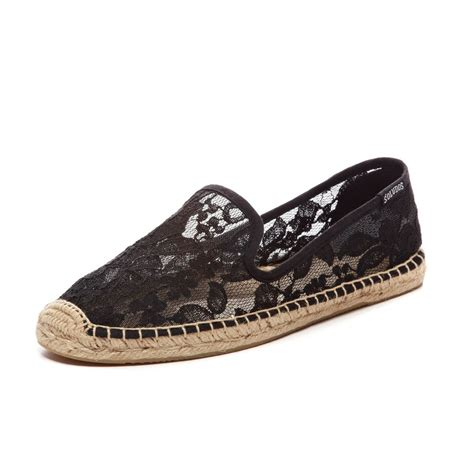 lace slippers soludos slipper lace in black chantilly lace