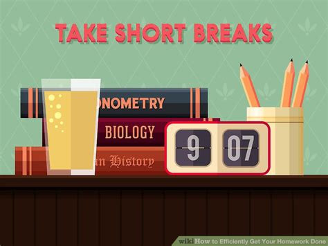 Complete Homework Efficiently by How To Efficiently Get Your Homework Done With Pictures