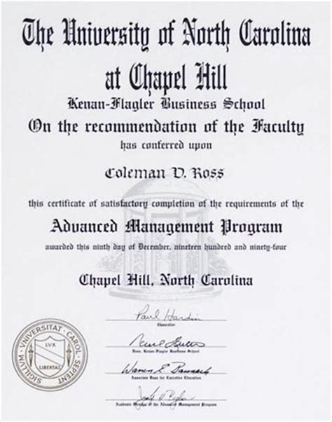Cost Of Mba At Unc Chapel Hill by Coleman Ross Education Supplement