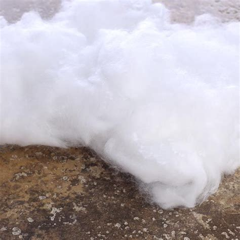 white cotton artificial snow