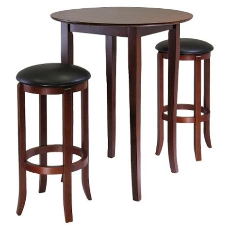 High Table With 2 Stools by 3 Fiona High Table Set With 2 Swivel Stools Wood