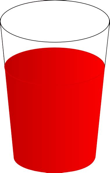 drinking glass with red punch clip art at clker com