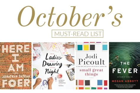 the must guide a listed must read list for october glitter guide